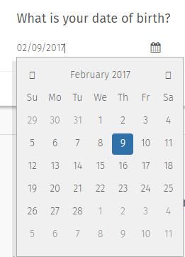 Calendar survey question