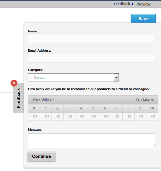 feedback tab embed surveys