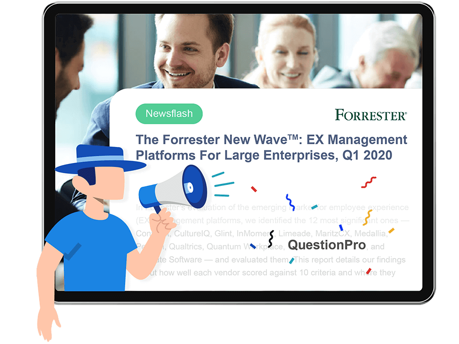 Forrester-QuestionPro-employee-experience-EX-management-tool