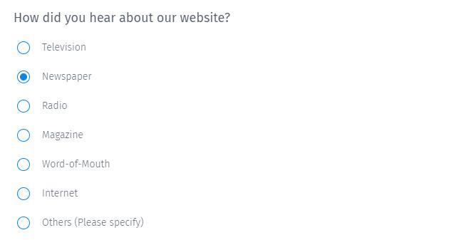 Survey Questions - Multiple Choice