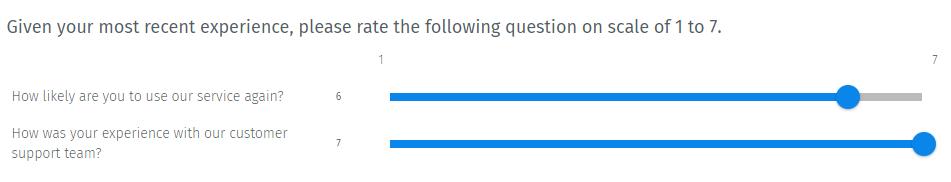 Survey Questions - Semantic Differential Scale