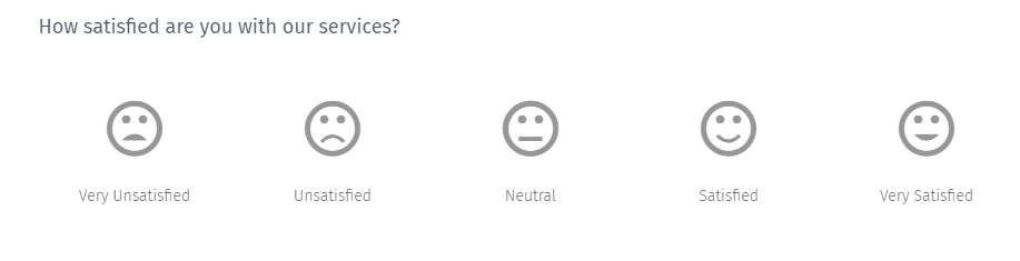 Survey Questions - Graphical Rating Type Survey Question
