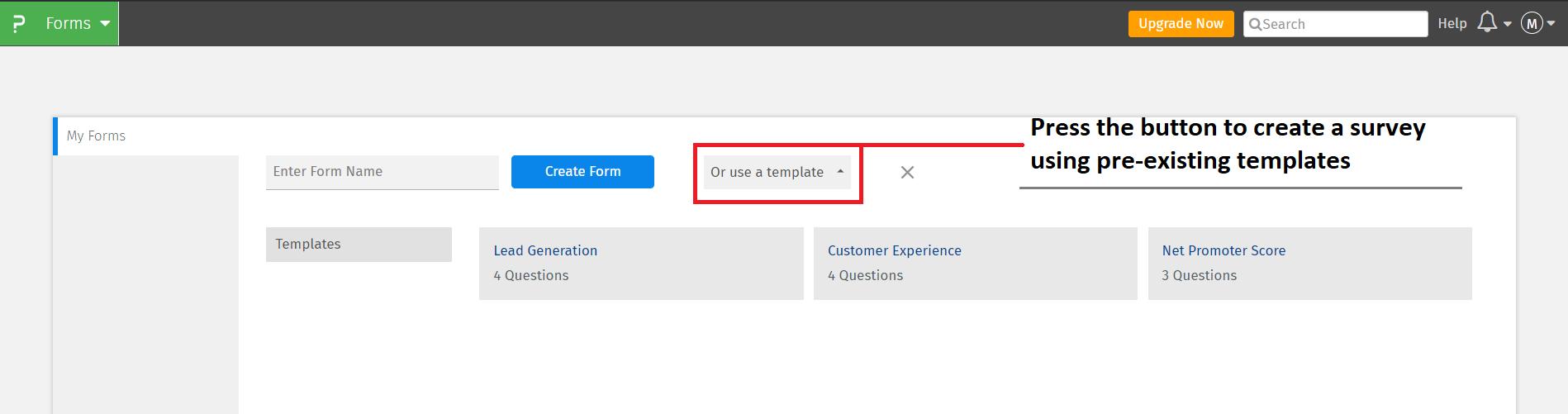 create-a-survey-using-a-template